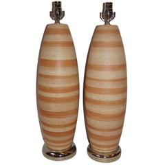 Pair of Large Moderne Table Lamps