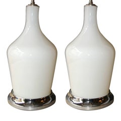 Moderne Opaline Glass Lamps