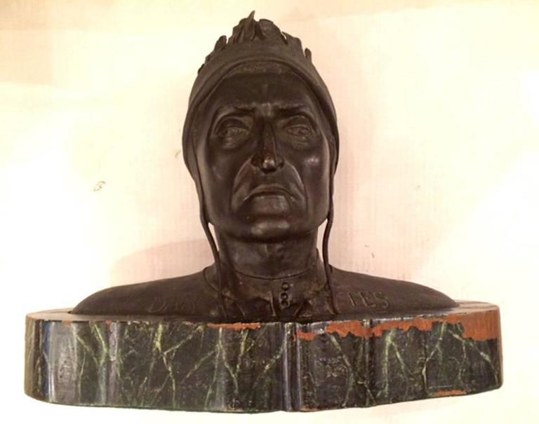 Grand Tour Bust of Dante In Good Condition For Sale In New York, NY