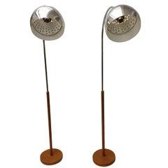 Pair of Nickel-Plated Floor Lamps