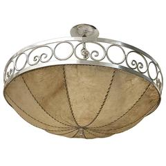 Set of Four Parchment Light Fixtures, Sold Individually
