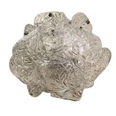 Murano Glass Molded Glass Pendant Light Fixture