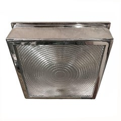 Set of Square Flush Mounted Fixtures, Sold Individually