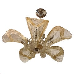 Murano Glass Semi Flush Light Fixture