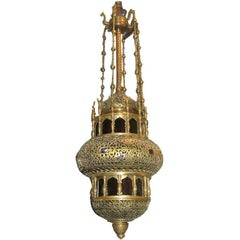 Pierced Arabesque Bronze Lantern