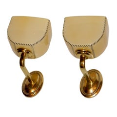Pair of Art Deco Sconces with Opaline Glass Shades