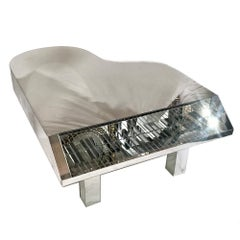 Piano Shaped Mirrored Coffee Table