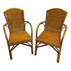 Set of Four Rattan Garden Chairs
