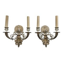 Nickel-Plated Peacock Sconces