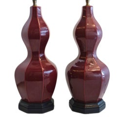Pair of Sang de Boeuf Table Lamps