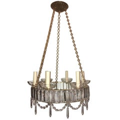 Swedish Neoclassic Chandelier with Crystals