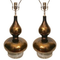 Pair of Moderne Glass Lamps