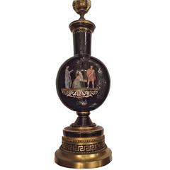 Single Neoclassic Porcelain Table Lamp