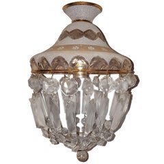 French Crystal Light Fixture