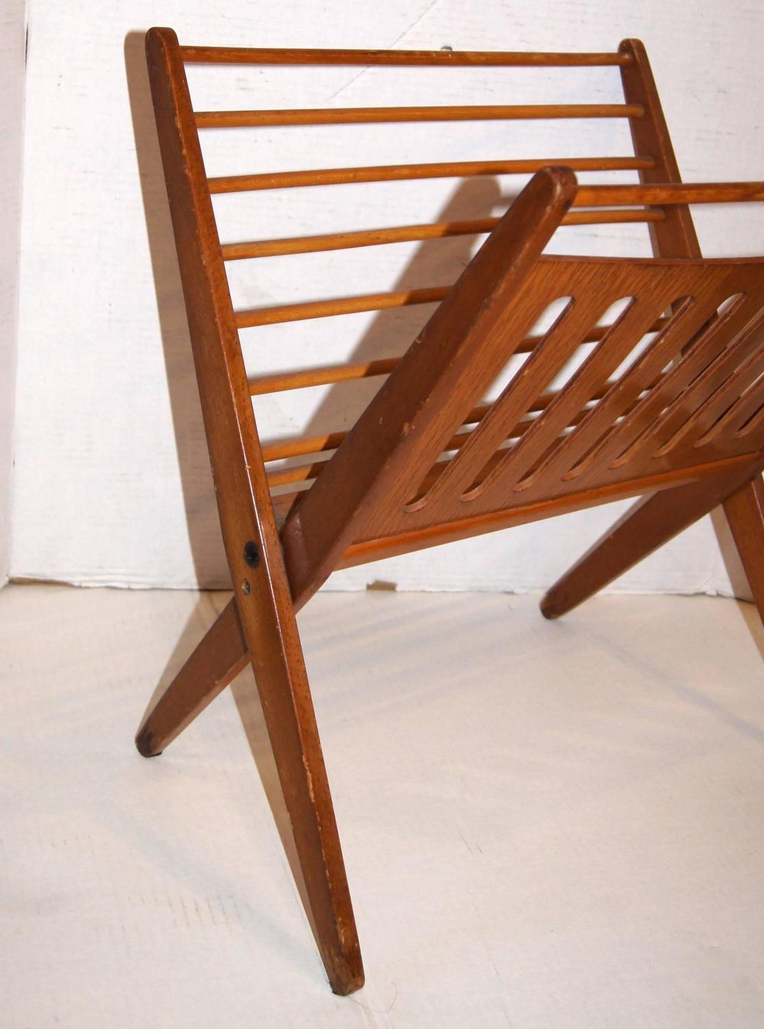 Midcentury Wooden Magazine Rack For Sale At 1stdibs. Full resolution  picture, nominally Width 1113 Height 1500 pixels, picture with #B04F11.