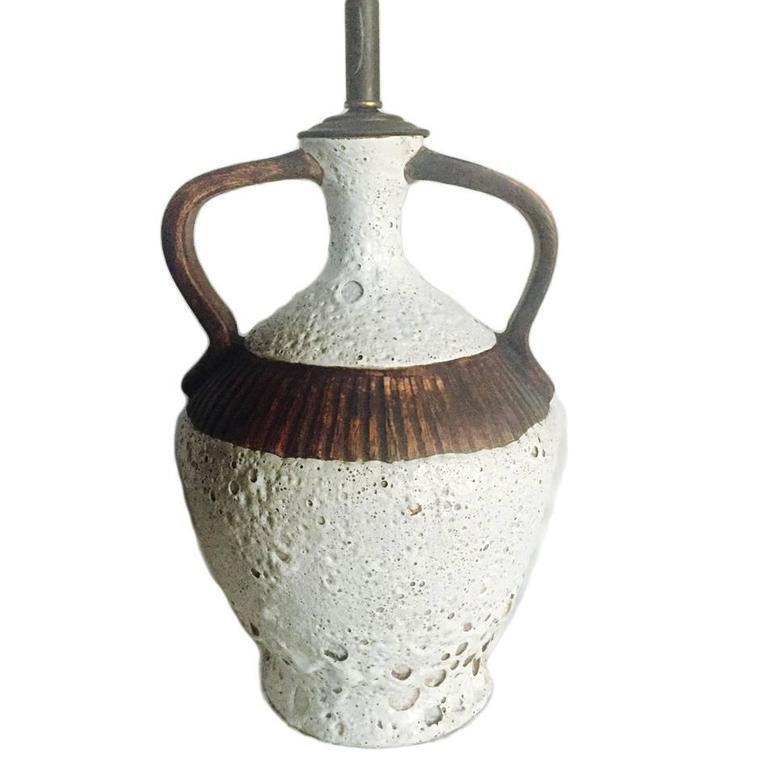 Large Brutalist Ceramic Lamp