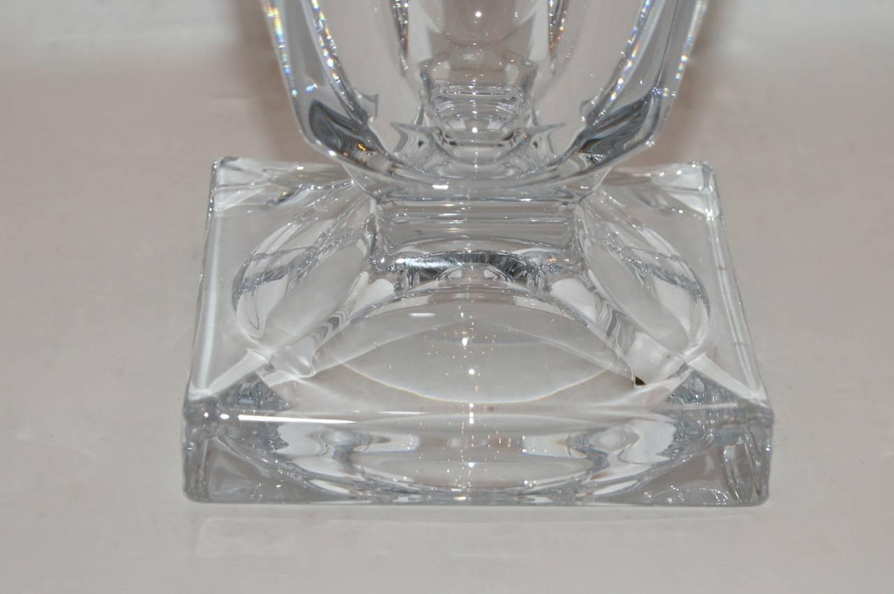 Clear Leaded Glass : Clear leaded glass vase for sale at stdibs