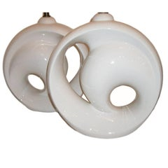 Large White Porcelain Lamps