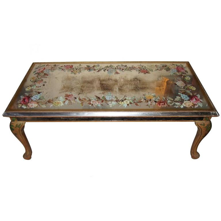 Mirrored Coffee Table Sale: Mid-Century Mirrored Coffee Table For Sale At 1stdibs