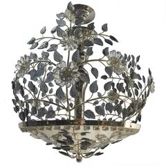 Silver Plated Fixture with Crystals