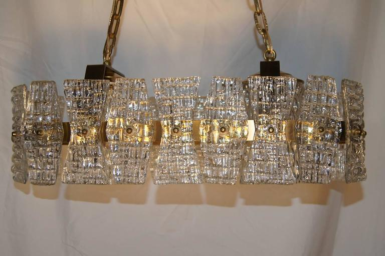 Swedish Mid-Century Glass Ceiling Fixture For Sale