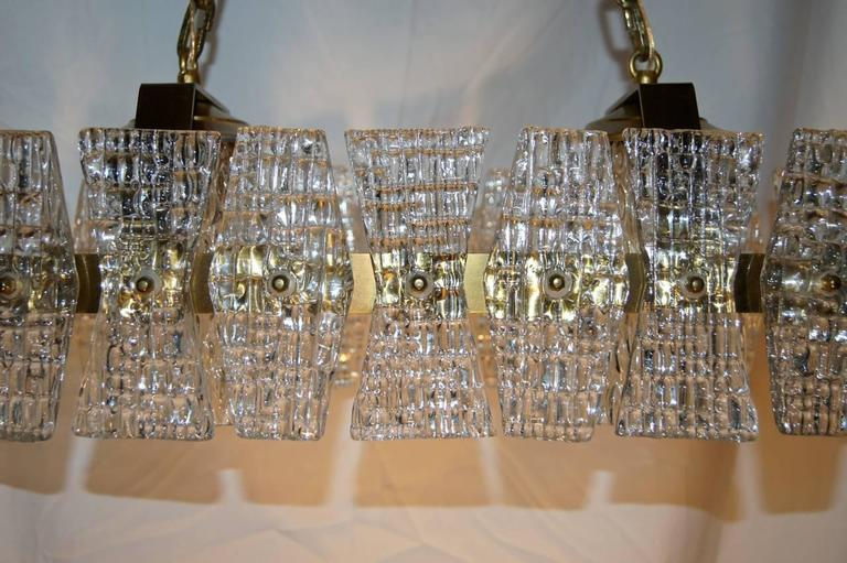Mid-Century Glass Ceiling Fixture In Excellent Condition For Sale In New York, NY