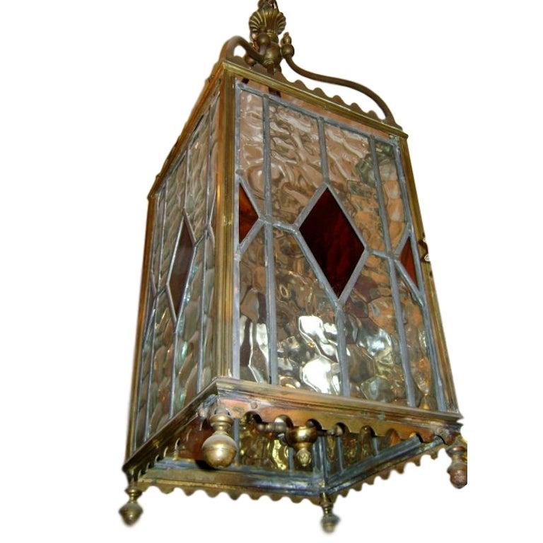 Leaded Glass Lantern