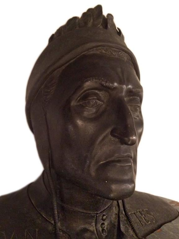 19th century grand tour bust of Dante Alighieri.