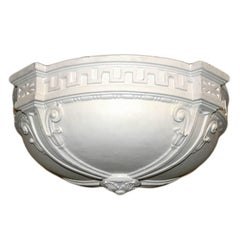 Pair of French Plaster Light Fixture