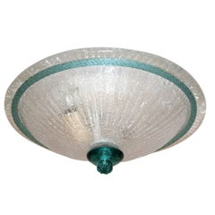 Pair of Glass Flush Mounted Fixtures