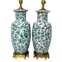 Floral Porcelain Lamps