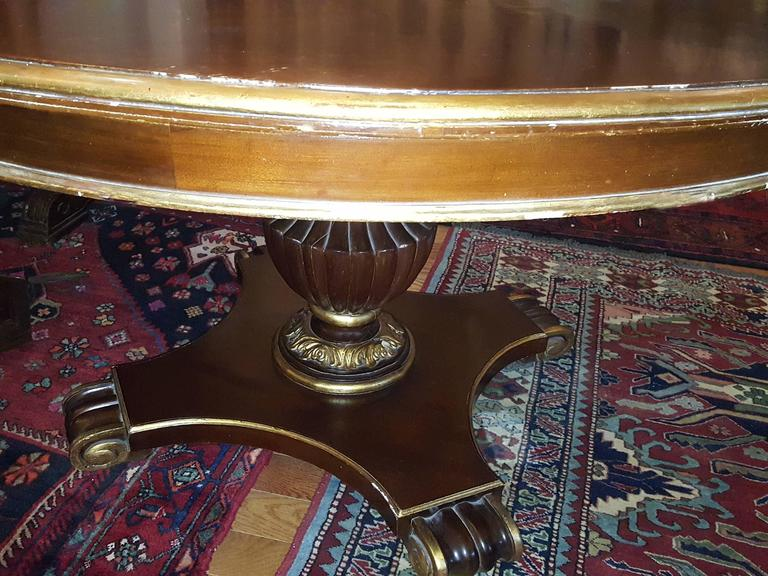 Italian Large Round Dining Table For Sale