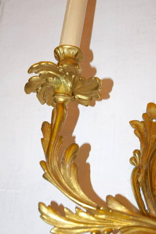 French Louis XVI Style Two-Arm Sconces For Sale