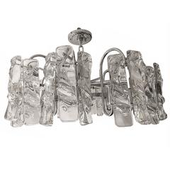 Moderne Nickel-Plated Light Fixture