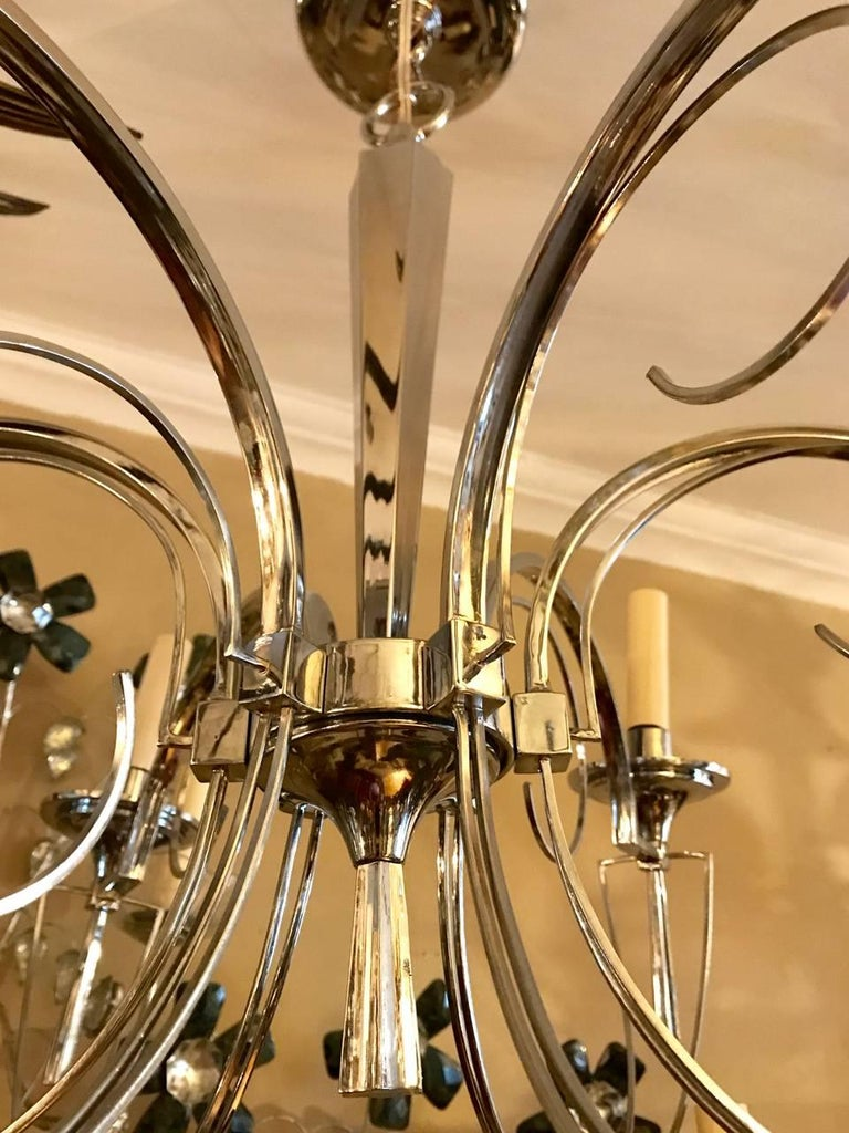 Mid-20th Century Set of Three Midcentury Italian Chandeliers, Sold Individually For Sale