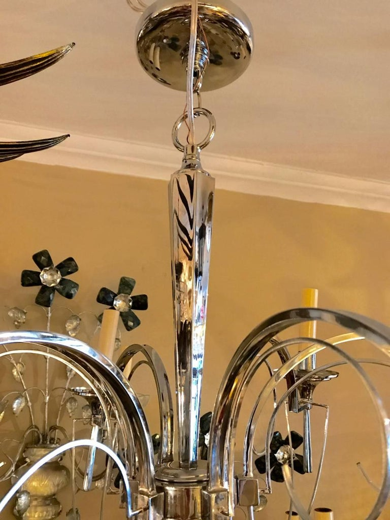 Set of Three Midcentury Italian Chandeliers, Sold Individually For Sale 1