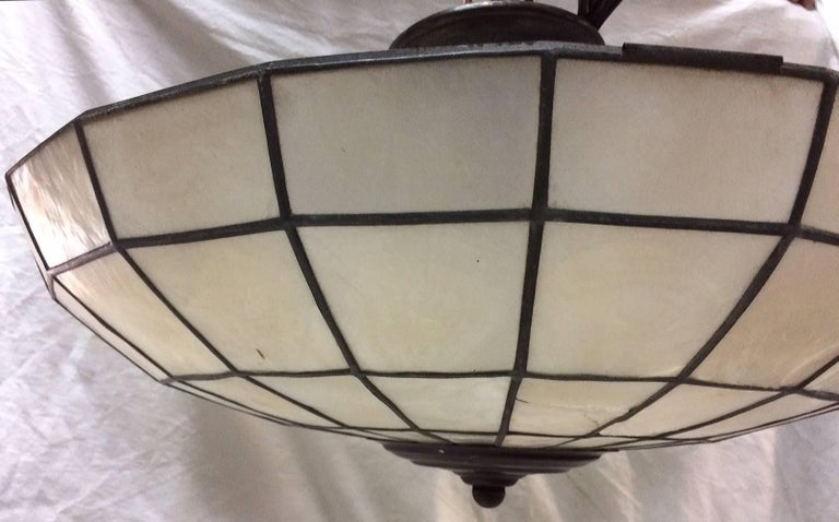 Capiz Ceiling Light Fixture In Excellent Condition For Sale In New York, NY