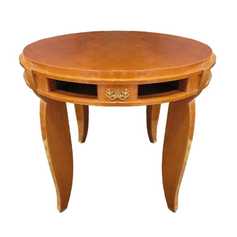 Jules Leleu Side Table in Sycamore