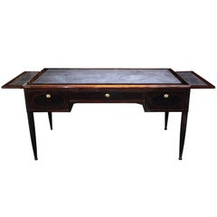 French Art Deco Macassar Ebony and Marquetry Desk