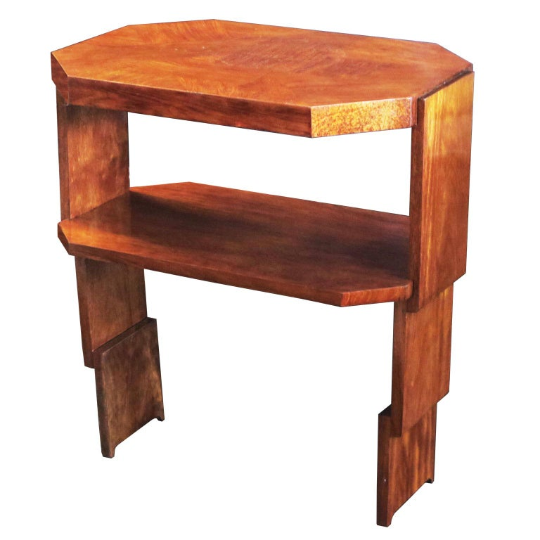 Maple and Fruitwood Parquetry Side Table by Louis Majorelle