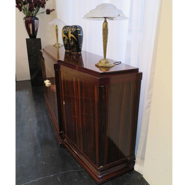 Louis Majorelle French Art Deco Sideboard in Macassar Ebony In Excellent Condition For Sale In Los Angeles, CA