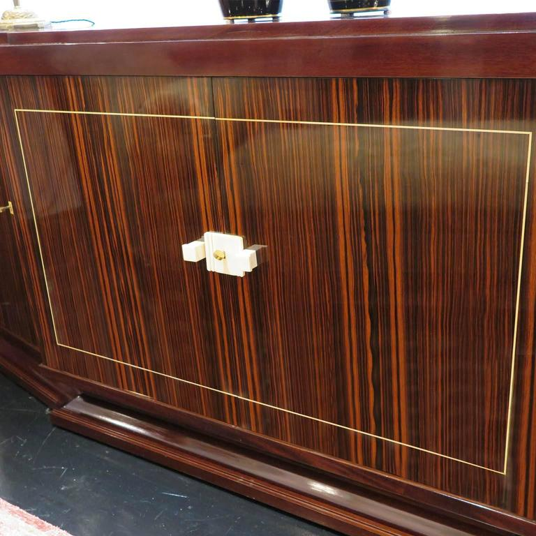 Early 20th Century Louis Majorelle French Art Deco Sideboard in Macassar Ebony For Sale