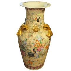Oversized Cantonese Porcelain Urn Vase, China, Late 19th Century