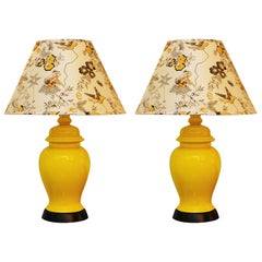 Pair of Midcentury Chinoiserie Jar Table Lamps, France, 1960s