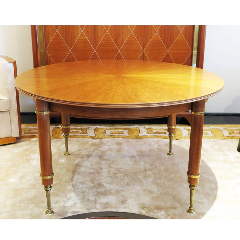 Blond Mahogany Dining Table by Jules Leleu and Maison Leleu 2