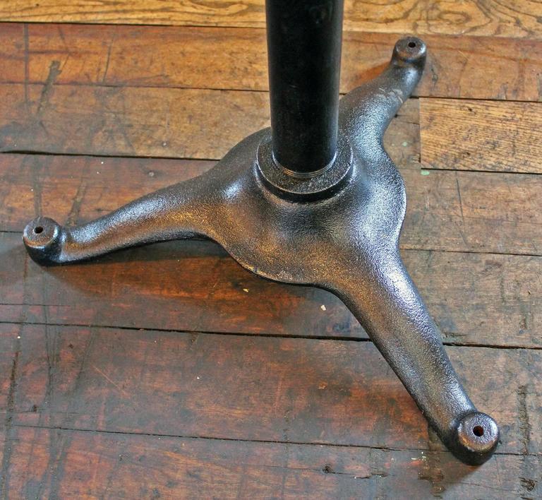 Vintage Pedestal Table Cast Iron Wood Tilt Top Artist Drafting Music Stand 8