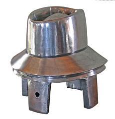 Vintage Industrial Polished Metal Aluminium Hat Block Mold, OB1DC