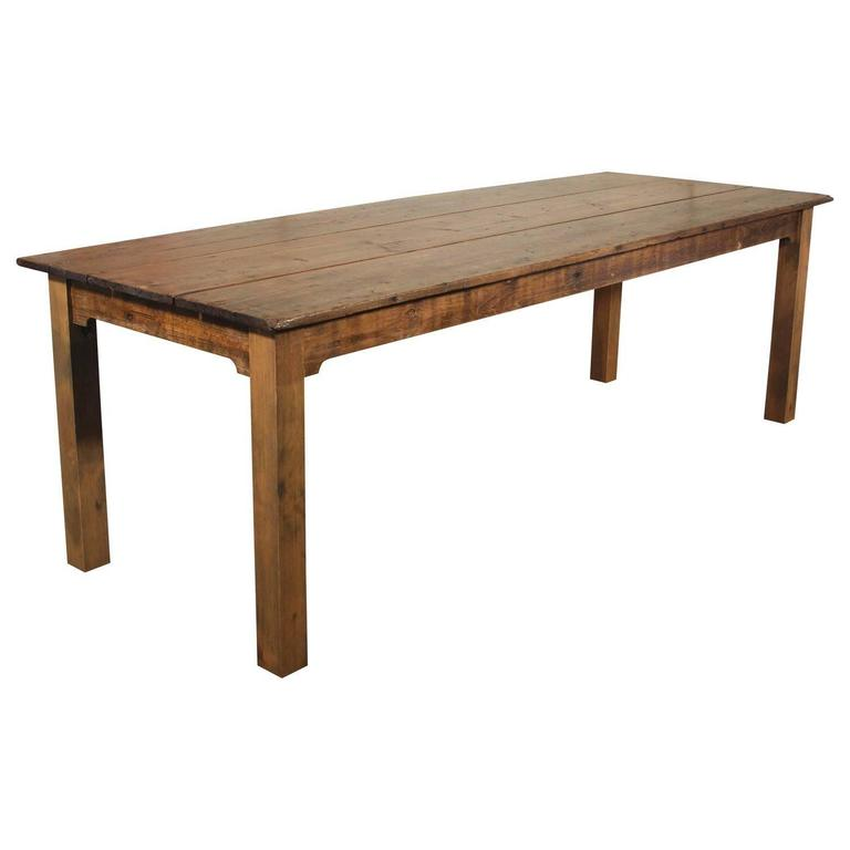 Farm Table Reclaimed Wood Tobacco Sorting Dining Harvest Conference For Sale At 1stdibs