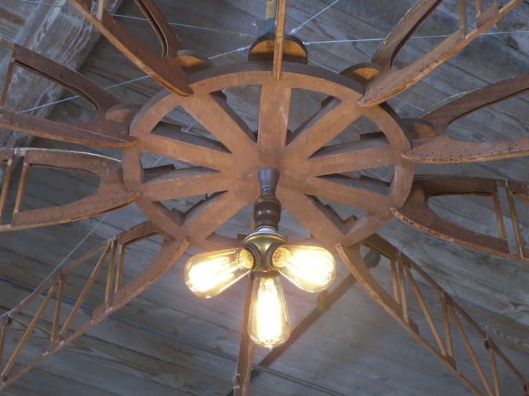 American Airplane Truss Chandelier For Sale