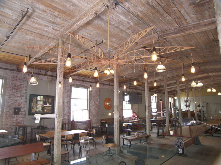 Metal Airplane Truss Chandelier For Sale